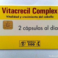 Tarjetas telefónicas de colección: TARJETA TELEFONICA;P-322: VITACRECIL-COMPLEX (500 PTA.) 03/98. Lote 243976665