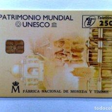 Tarjetas telefónicas de colección: TARJETA TELEFONICA;P-246: MONEDAS CONM.-III (250 PTA.) PATRIMONIO MUNDIAL UNESCO (03/97). Lote 243977175