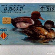 Tarjetas telefónicas de colección: TARJETA TELEFONICA;P-259: VALENCIA'97 (250 PTA.) EXP.FILATELICA (04/97). Lote 243977535