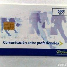Tarjetas telefónicas de colección: TARJETA TELEFONICA;P-482: COMUNICACIÓN PROFESIONALES-V (500 PTA.) 08/01. Lote 243979005