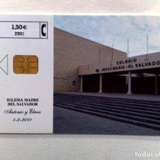 Tarjetas telefónicas de colección: TARJETA TELEFONICA;P-476: IGLESIA MADRE DEL SALVADOR (1,50€.) TIRADA 3.200 EJEMPLARES 07/01. Lote 243979425
