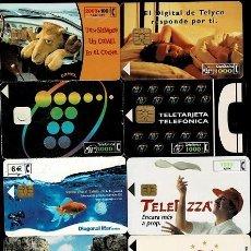 Tarjetas telefónicas de colección: NC-1-1 TARJETAS TELEFONICAS. CONJUNTO DE 10 EJEMPLARES DIFERENTES. Lote 245479170