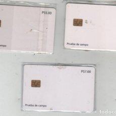 Tarjetas telefónicas de colección: 3 TARJETAS -CUBA-PRUEBAS DE CAMPO EN MONEDA NACIONAL-AÑO 1996 (SERIE COMPLETA). Lote 255981380