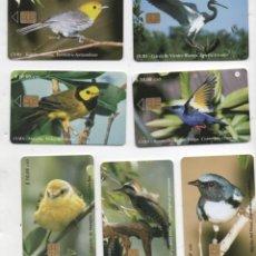Tarjetas telefónicas de colección: LOTE-7 TARJETAS-CUBA. Lote 255982380
