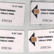 Tarjetas telefónicas de colección: LOTE DE 4 TARJETAS FULLCARD URMET-ETECSA-CUBA. Lote 255983855