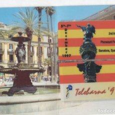 Tarjetas telefónicas de colección: EDICION CONMEMORATIVA 2ª FERIA INTERNACIONAL DE TELEBARNA 97-VER FOTOS. Lote 255991435