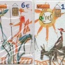 Tarjetas telefónicas de colección: PUZLE -IV CENTENARIO-QUIJOTE DE LA MACHA-2 TARJETAS. Lote 255992055