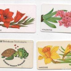 Tarjetas telefónicas de colección: LOTE DE 4 TARJETAS DE FLORES-ALEMANIA-VER FOTOS. Lote 255996240