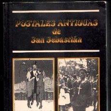 Tarjetas telefónicas de colección: LIBRO DE POSTALES ANTIGUAS DE SAN SEBASTIAN CON FOTOS EN 262 PAGINAS- DE LUIS ALZUA. Lote 255999210
