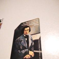 Carte telefoniche di collezione: TARJETA TELEFÓNICA POLONIA FESTIVAL CHOPIN. Lote 267415179