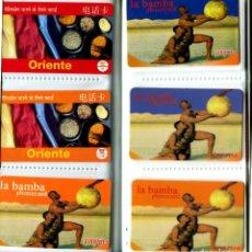 Tarjetas telefónicas de colección: COLECCION ALBUM CLASIFICADOR CON 96 TARJETAS TELEFONICAS TODAS DIFERENTES (VER FOTOS). Lote 269726323