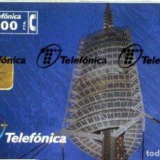 Tarjetas telefónicas de colección: TARJETA TELEFONO ESPAÑA NUEVA CON PRECINTO P- 320 TORRE TELEC.COLLSEROLA 02/1998. Lote 269839163