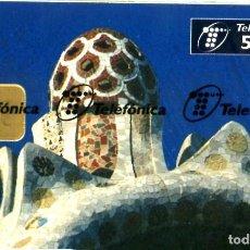 Tarjetas telefónicas de colección: TARJETA ESPAÑA NUEVA CON PRECINTO P-242 GAUDI 02-97. Lote 269839528