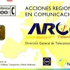 Tarjetas telefónicas de colección: TARJETA TELEFÓNICA ESPAÑA ARCO. NUEVA CON PRECINTO. Lote 269839613