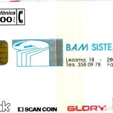 Tarjetas telefónicas de colección: P-065 BAM SYSTEMS NUEVA CON PRECINTO. Lote 269839693
