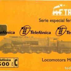 Tarjetas telefónicas de colección: TRENES NUEVA CON PRECINTO LOCOMOTORA MASTODONTE. Lote 269841378