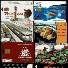 Tarjetas telefónicas de colección: NC-1-2 TARJETAS TELEFONICAS. CONJUNTO DE 10 EJEMPLARES DIFERENTES VER. Lote 287625643