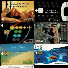 Tarjetas telefónicas de colección: NC-1-3 TARJETAS TELEFONICAS. CONJUNTO DE 10 EJEMPLARES DIFERENTES. Lote 287625788