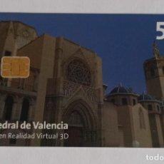 Tarjetas telefónicas de colección: TARJETA TELEFONICA, CATEDRAL DE VALENCIA. Lote 288309233