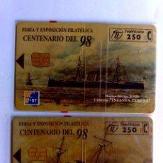 Tarjetas telefónicas de colección: TARJETAS TELEFONICAS:P-290+P-291: SERIE COMPLETA FILATELIA '97,NUEVAS CON BLISTER (10/97). Lote 288313718