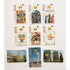 Tarjetas telefónicas de colección: LOTE 9 TARJETAS TELEFONICAS XXV JUEGOS OLIMPICOS BARCELONA92 PHONECARD OLYMPIC GAMES. Lote 288387363