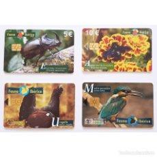 Tarjetas telefónicas de colección: LOTE 4 TARJETAS TELEFONICAS FAUNA IBERICA PHONECARD. Lote 288388113