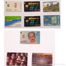 Tarjetas telefónicas de colección: LOTE 9 TARJETAS TELEFONICAS ESPAÑA TELÉFONICA Y PUBLICIDAD. Lote 288390428