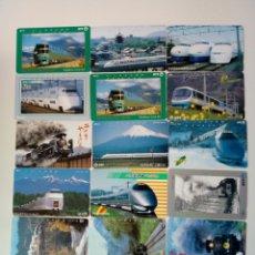 Tarjetas telefónicas de colección: LOTE TARJETAS TELEFONICAS TRENES JAPON. Lote 288676343