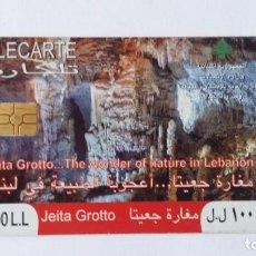 Tarjetas telefónicas de colección: TARJETA DE TELÉFONO LÍBANO TÉLÉCARTE JEITA GROTTO 2009 LIBAN LEBANON. Lote 288677203