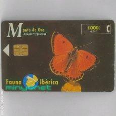 Tarjetas telefónicas de colección: TARJETA TELEFÓNICA FAUNA IBÉRICA - MANTO DE ORO 1000 PTA. 08/99. Lote 288692093