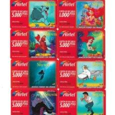 Tarjetas telefónicas de colección: NUEVE TARJETAS TELEFONICAS DE LA SIRENIRA - SERIE AIRTEL. Lote 289327018