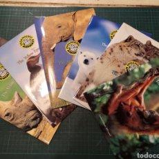 Tarjetas telefónicas de colección: ENDANGERED ANIMALS 6 PARTES. Lote 295312533