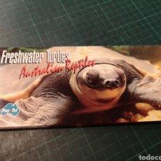 Tarjetas telefónicas de colección: FRESHWATER TURTLES. Lote 295683303