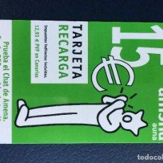Tarjetas telefónicas de colección: TARJETA TELEFÓNICA RECARGA AMENA 15 €. Lote 296598593