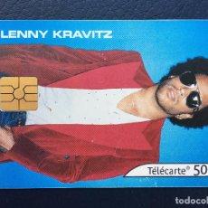 Tarjetas telefónicas de colección: TARJETA TELEFÓNICA FRANCIA LENNY KRAVITZ. Lote 296600288
