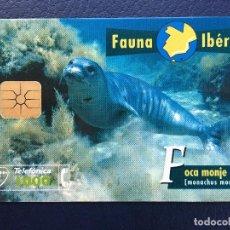 Tarjetas telefónicas de colección: TARJETA TELEFÓNICA FAUNA IBÉRICA. Lote 296600838