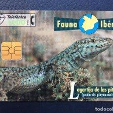 Tarjetas telefónicas de colección: TARJETA TELEFÓNICA FAUNA IBÉRICA. Lote 296600973