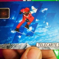 Tarjetas telefónicas de colección: TARJETA TELEFÓNICA TELECARTE 50 JEUX OLYMPIQUES D'HIVER ALBERTVILLE 92. Lote 296601898