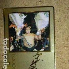Tarjetas telefónicas de colección: SUMO CHIYONOFUJI LOGRÓ 1000 VICTORIAS TARJETA TELEFÓNICA CON MARCO DE PAN DE ORO. Lote 296686663