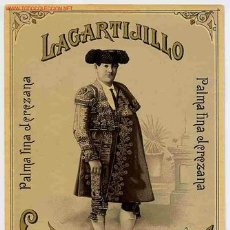 Tauromaquia: ETIQUETA JEREZ LAGARTIJILLO TORERO ER 36 , TEMA TOROS. Lote 26822490