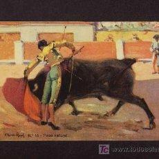 Tauromaquia: POSTAL DE TOROS: PASE NATURAL (ED.SIRVEN NUM.15). Lote 3095403