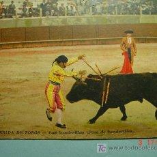 Tauromaquia: 1887 OCASION POSTAL TOROS TAUROMAQUIA PRINCIPIOS SIGLO XX PRECIOSA COSAS&CURIOSAS. Lote 3547050
