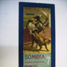 Tauromaquia: PRECIOSA ENTRADA - PLAZA DE TOROS DE VALENCIA - 29 JULIO 1922. Lote 21318400