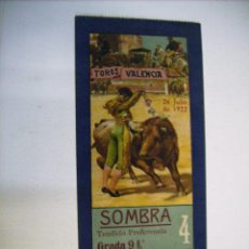 Tauromaquia: PRECIOSA ENTRADA - PLAZA DE TOROS DE VALENCIA - 26 JULIO 1922. Lote 21318401