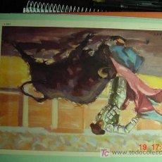 Tauromaquia: 3894 TOROS TAUROMAQUIA PRECIOSA LAMINA EN CARTULINA AÑOS 1950 - COSAS&CURIOSAS. Lote 5540495
