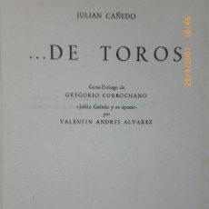 Tauromaquia: ... DE TOROS.. Lote 15203056