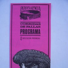 Tauromaquia: PROGRAMA DE CORRIDA DE FALLAS, PLAZA DE VALENCIA , 17 MARZO 1985 (DIPTIC, 10X21,5CM APROX CERRADO). Lote 10325139