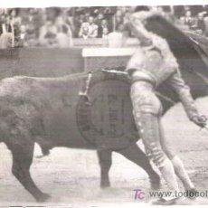Tauromaquia: * TOROS * POSTAL TAURINA: ANTONIO ORDÓÑEZ, PASE AFAROLADO. Lote 21891071