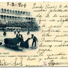Tauromaquia: CORRIDA DE TOROS, MAZZANTINI Y GUERRITA TOREANDO A LA LIMON, P18480. Lote 13715404