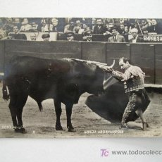 Tauromaquia: ANTIGUA FOTO POSTAL TAUROMAQUIA EN BLANCO Y NEGRO - ARRUZA ADORNANDOSE, FOTO MATEO.. Lote 27634682